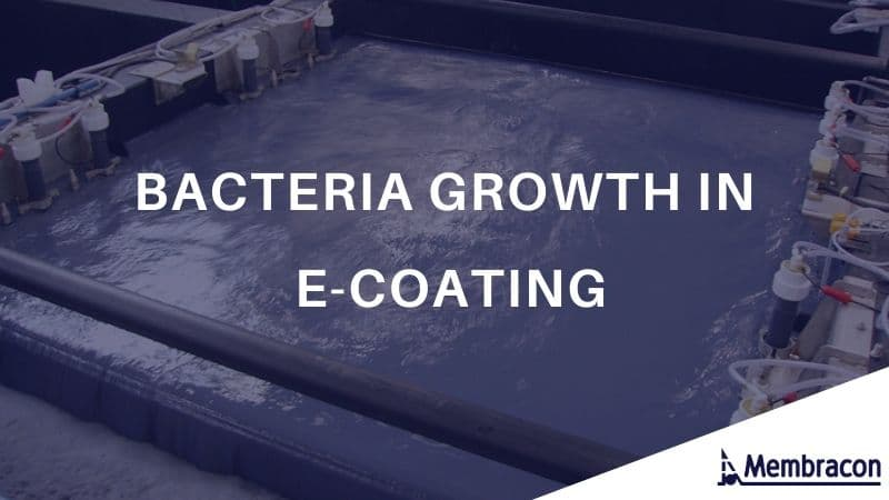 Water Filtration For E-coating processes - bacteria growth in e-coating