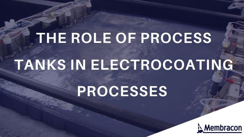 process tanks in electrocoating